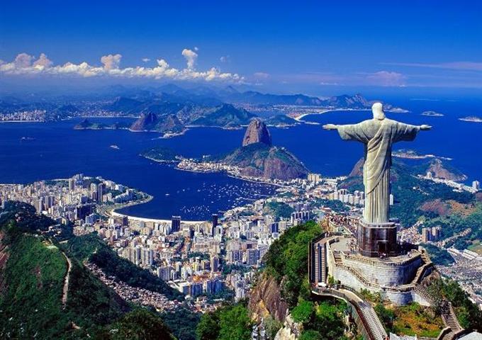 コルコバードのキリスト像(リオデジャネイロ)