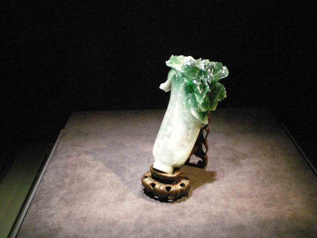 故宮博物館(台北)を代表する名品の一つ「翠玉白菜」