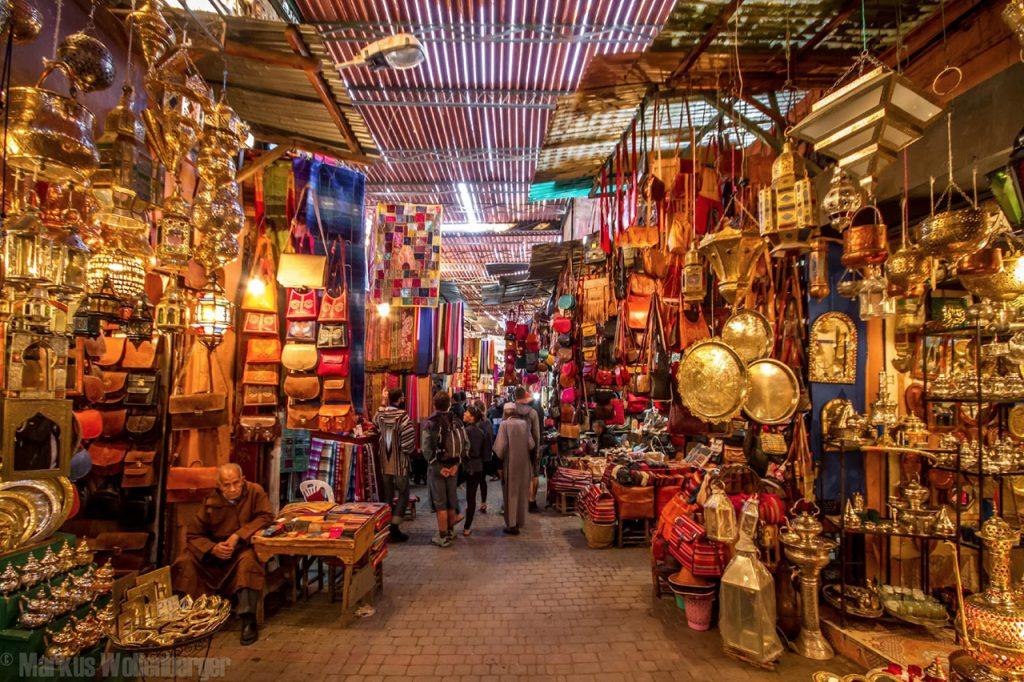 マラケシュ(Marrakech)のスーク(市場)