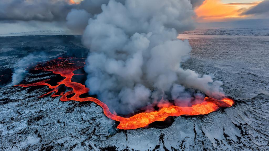 Holuhraun Volcano Eruption Iceland