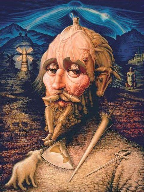 "Octavio Ocampo - ""Friendship of Don Quixote"""